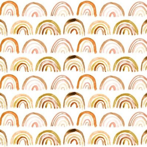 Golden rainbows - watercolor painted boho rainbow p106