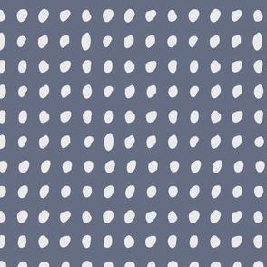 Tea Time dots - dark blue