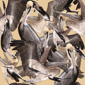 Pelican Paridise-Yellow