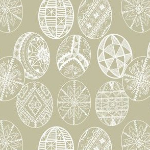 Pysanky Taupe Graphic