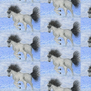 wild horseplay oceansurf hand-drawn beach patchwork