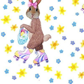 Garden Easter egg hunt fun with the Easter Bunny floral