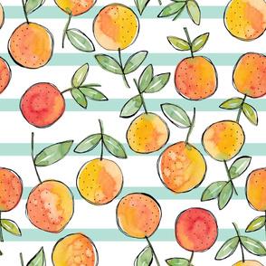 Orange stripes mint