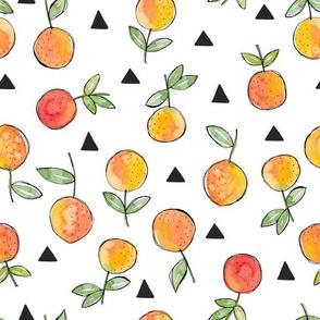 Orange and triangle toss
