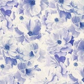 Abstracted Full Blown Roses in Pale Violet Blue - small