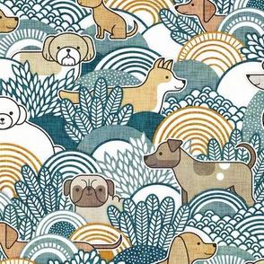 Dog Park Small- Dogs from my Window- Neighborhood Dogs- Corgi- Chihuahua- Doxie- Dashchund- Pug- Shih Tzu- Poodle- Schnauzer- Spaniel- Rescue