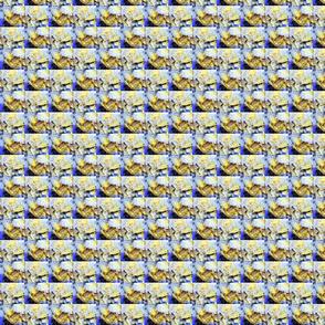 Blue Yellow Crystal, Basket Weave