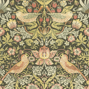 William Morris ~ Strawberry Thief ~ Original on Morla