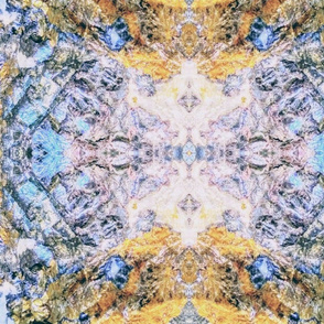 Light Blue Yellow Crystal,  Mega Reflection