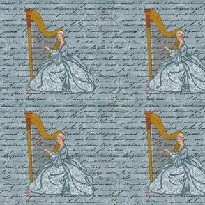 Dangerous Liaisons ~ Cecile's Harp Lessons ~ Solo ~ Pillow Sizes