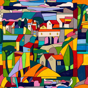 My colorful  village