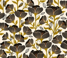 Black Poppies - Hand drawn