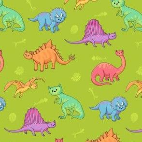 Dinosaur Doodlecats Green