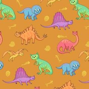 Dinosaur Doodlecats Orange