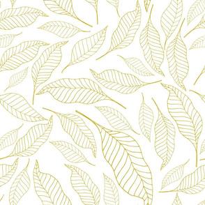 Golden retro leaves
