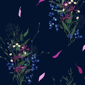 Bright wild flowers
