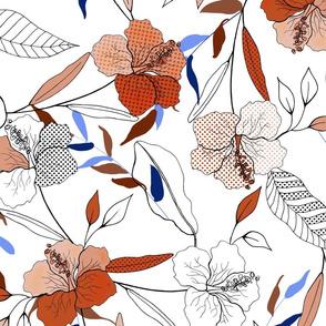 Lily orange flowers