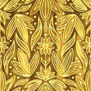 Rococo Golden Enamel Art Deco - Large Scale
