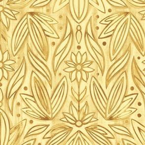 Rococo Yellow Gold Enamel Art Deco - Large Scale