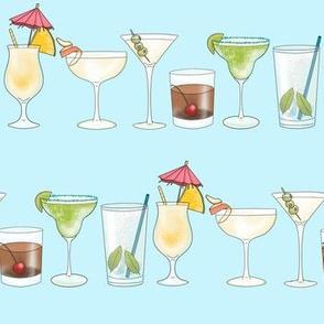 Cocktails in Blue