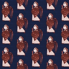 Valkyrie on blue background