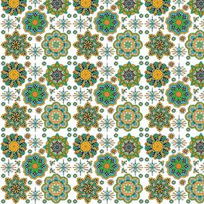 Marrakesh 5 Mandalas white