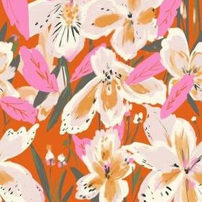 Bright Iris - red & pink
