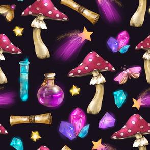 Amanita magic mushroom