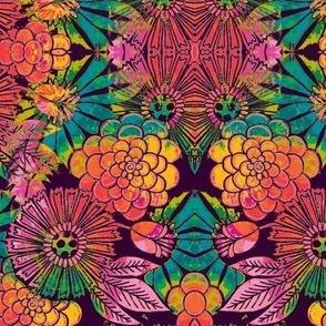 retro flowers carnavale