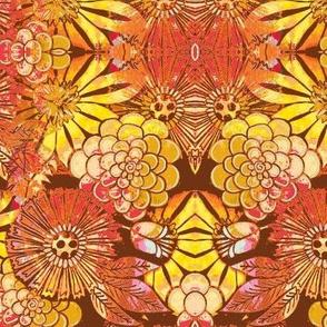 retro flowers spice