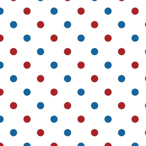 Red, White, and Blue Polka Dots - Large (July 4th collection)