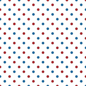 Red, White, and Blue Polka Dots - Medium (July 4th collection)