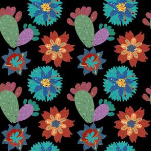 Southwest Florals - Black