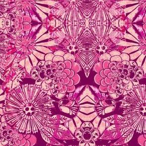 retro flowers pinks
