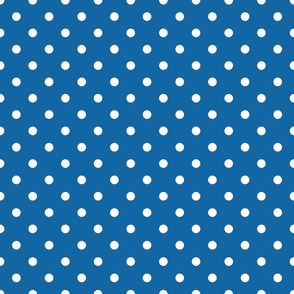 Blue With White Polka Dots - Medium (July 4th Collection)