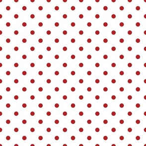 White With Red Polka Dots - Medium (July 4th Collection)