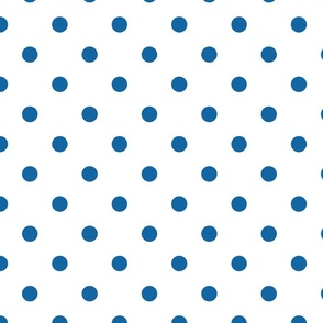 White With Blue Polka Dots - Large (July 4th Collection)