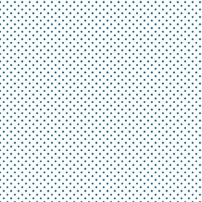 White With Blue Polka Dots - Small (July 4th Collection)