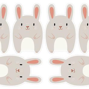 """Yard of Rabbits 54"""" x 36"""""""