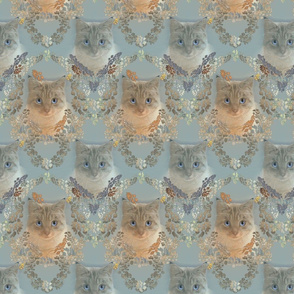 Medium Size of Cat Damask in Soft Gray and Beige