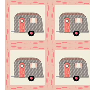 Cheater Quilt, Fill-a-Yard_Pink Airstream1