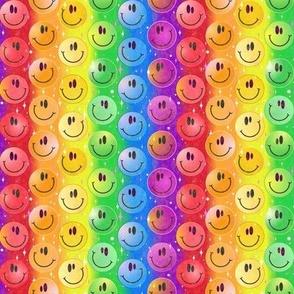 Very Rainbow! Smiley Face Smileys!  SMALL scale gay pride