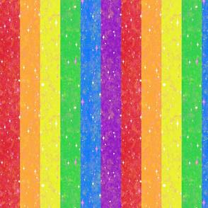 Very Rainbow!  Sparkle Rainbow Vertical Stripe - Rainbow Gay Pride Colors