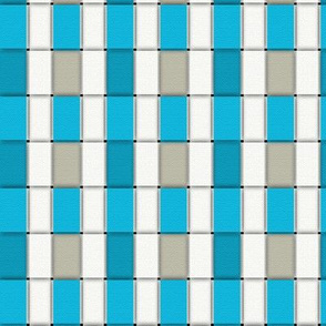 Weave - Blues _ Beige