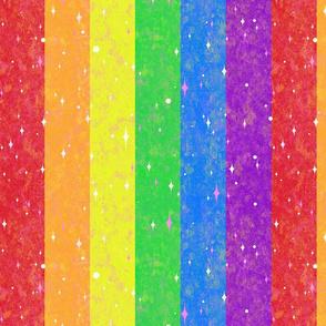 Very Rainbow!  Sparkle Rainbow Vertical Stripe - Rainbow Gay Pride Colors -- 339dpi (44% of Full Scale)