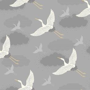 Deco cranes - grey