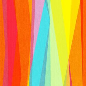 Rainbow geo stripes vertical jumbo