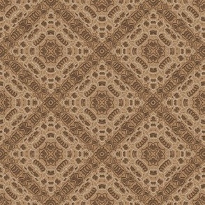 Beige-brown geometric ethnic ornament. Diagonal tile
