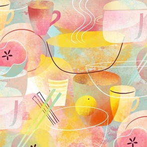 pastel relax break drink