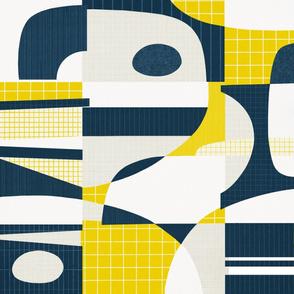 Intermission - mustard/indigo